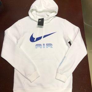 Nike TN Air White Hoodie BV3225-810 RARE BLUE Med